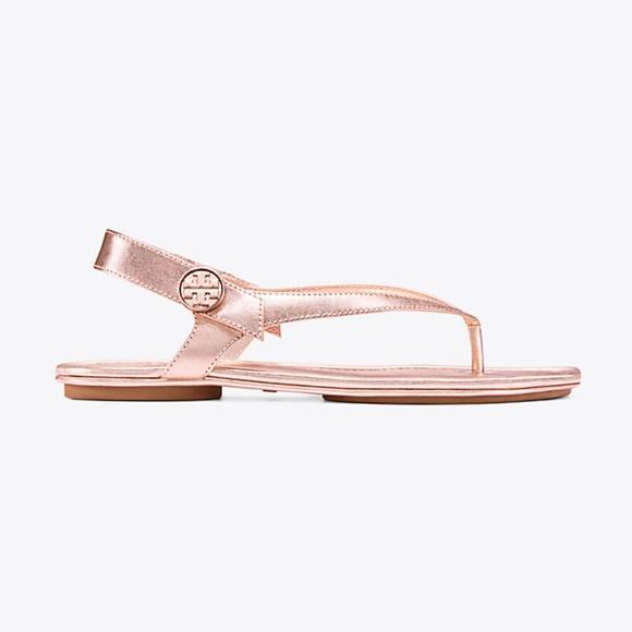 f0468e9c13bd Tory Burch Minnie Travel Sandal in Rose Gold